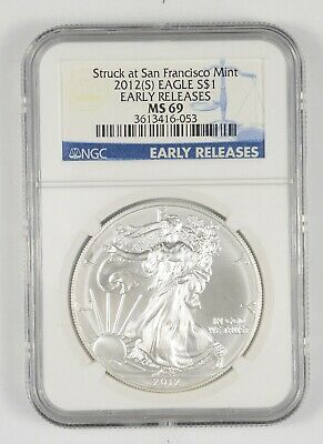 MS69 2012 American Silver Eagle - San Francisco - Early Releases - NGC *141