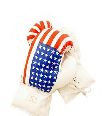 Kids 4 Oz USA Faux Leather Boxing Gloves SPARRING YOUTH PRACTICE TRAINING MMA
