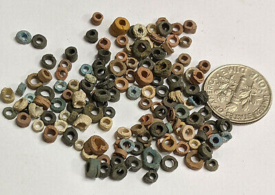 Three Grams 2500 Year old Ancient Egyptian Faience Mummy Beads Lot (#L2052)