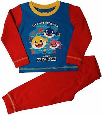 Boys Kids Baby Shark Pyjamas 18 Months to 5 Years Official Set PJs NEW
