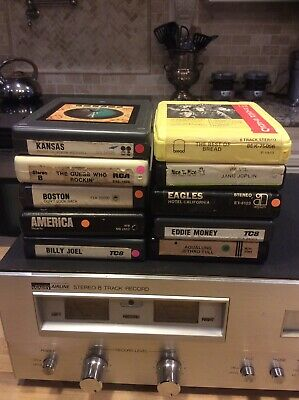 VINTAGE Montgomery Ward Airline Stereo 8 Track Player/Recorder With 10 Tapes