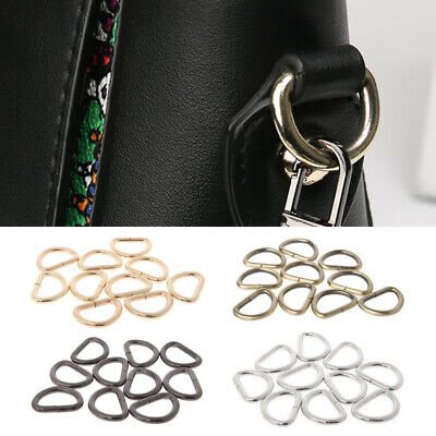 D rings buckles for webbing 13/16/20 / 25mm multi colours available Leathercraft