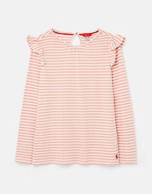 Joules Evelyn Jersey Flutter Top 1 12 Years in PINK STRIPE