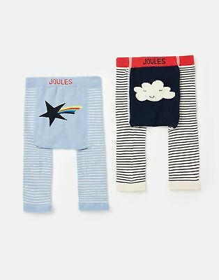 Joules 208565 2 Pack Character Leggings - BLUE CLOUD AND STAR