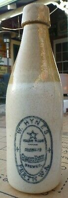 Tan top corker ginger beer W. HYNES PERTH W.A. star trademark - also was in Cue