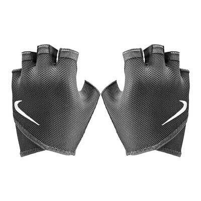 Nike Women's Essential Fitness Training Gloves Large Sports Workout Gym Black/WH
