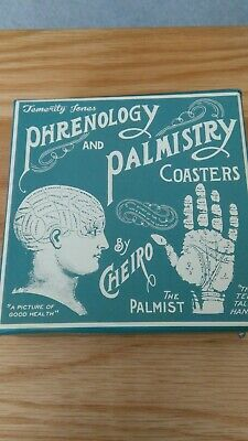 temerity jones phrenology and palmistry new box of 6 coasters