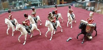 Antique British Royal Guards Britains Lead Soldiers Horse Drummer Band Lot Of 7