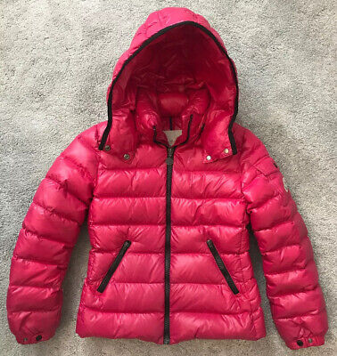 Authentic Girls Pink Moncler Hooded Down Coat Size 10 Years