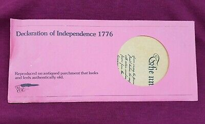 Us Declaration Of Independence 1776 On Antiqued Parchment Reproduction
