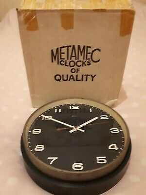 Rare Vintage Retro 1960s/70s Dark Blue Plastic BOXED METAMEC Electric Wall Clock