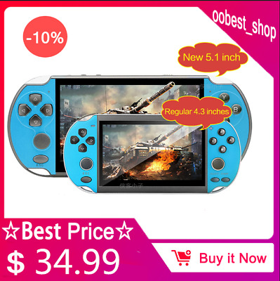 """5.1"""" 8G 128-bit Arcade PSP Portable Handheld Game Console Built-in 10,000 Games"""