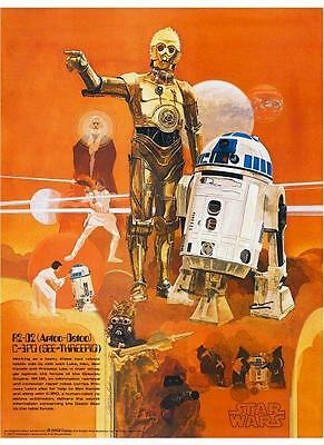 Star Wars  POSTER  1 of 4 Set Sci-Fi Art Burger Chef Harrison Ford George Lucas