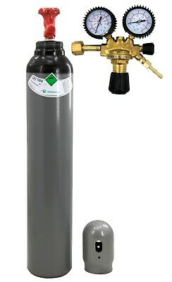 Gas Bottle 8 litres NITROGEN N Air contition Welding legalization REDUCER