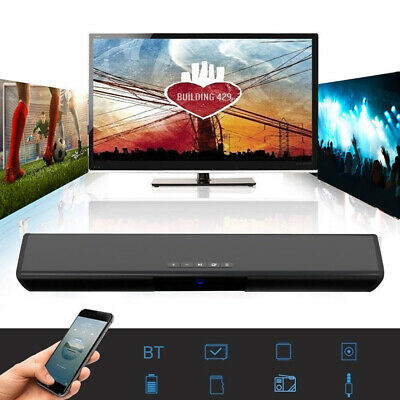 TV Sound Bar Home Theater Subwoofer Wireless Bluetooth 2 Speakers Soundbar UK