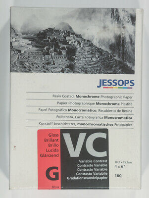 "JESSOPS RC Glossy Variable Contrast Darkroom 4"" x 6"" 100 Sheets paper"
