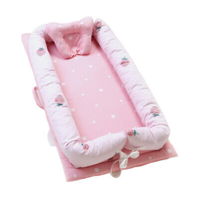 "Sleeping Baby Bassinet Bed 35x20"" Newborn Portable Infant Lounger Crib Nest B"