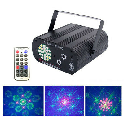 24 Led Laser Projector Disco Light DJ RGB Strobe Sound Activated Stage Lamp