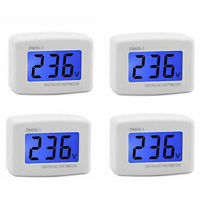 DM55-1 AC 80-300V Meter Plug Volt Meter LCD Digital Display Voltmeter Blue A4V6