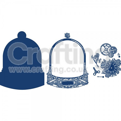 Tattered Lace Glass Dome Bell Jar + Watching Time Die Bundle NEW