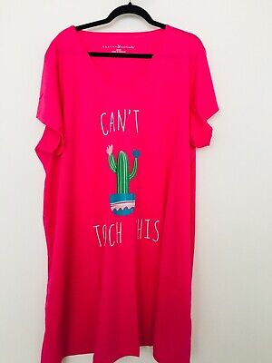 Lovely new plus size 28//30 cute pink cactus  design  nightie.......