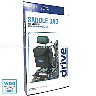 DRIVE Lightweight Mobility Scooter Shopping Saddle Bag Storage Shower Proof