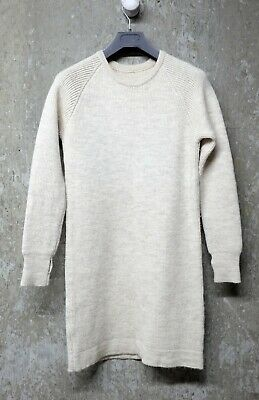 MHL by Margaret Howell - Knitted Dress in Oatmeal Melange Col. Ribbed Wool