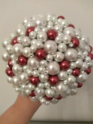 Ready Made Pearl Wedding Bouquet. Winter Bouquet