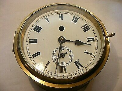 Antique Vintage Ships Marine Fusee Clock Brass