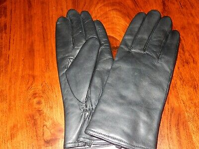 Women's Leather Gloves Black Thinsulate Brand New Xl Wrist Length