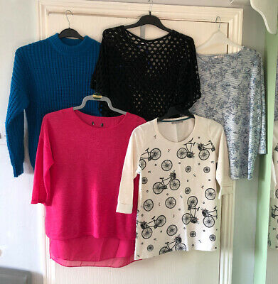 Clothes Bundle Size 10-12. Ladies Mixed Top Bundle. 5 Items.Casual Everyday Wear