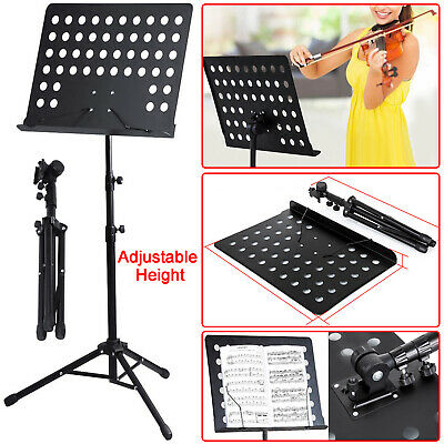 Heavy Music Stand Duty Metal Foldable Holder Tripod Orchestral Conductor Sheet.