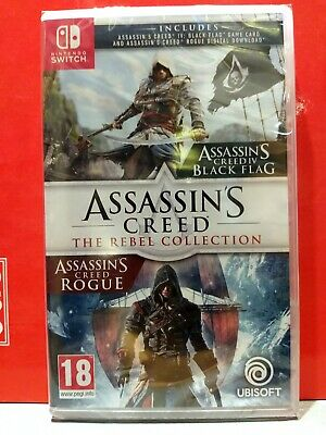 Assassin's Creed the rebel Collection(Black Flag+Rogue)Nintendo SWITCH nuovo sig