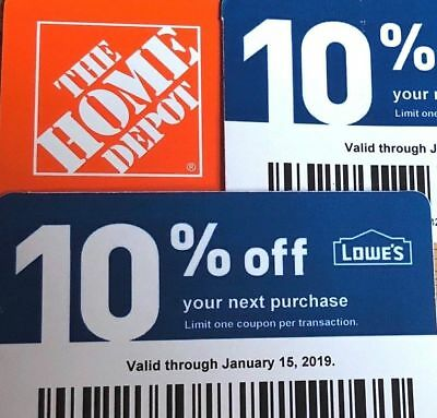 20x 10% Off Home Depot Vouchers Exp OCTOBER 15, 2020 Ace Menards Not Lowes