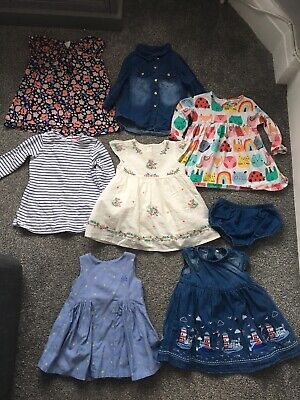 7 X Baby Girls Dress Outfit Bundle 3-6 Months Some New Next No Added Sugar