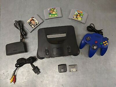 Nintendo 64 N64 Video Game Console System Complete Bundle Lot 3 Game Cont Pack