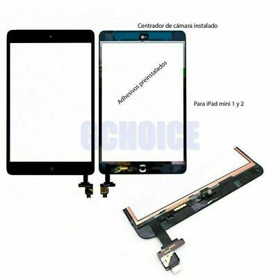 PANTALLA TACTIL PARA IPAD MINI 1 2 A1432 A1454 A1455+CHIP IC & Botón Home Negro