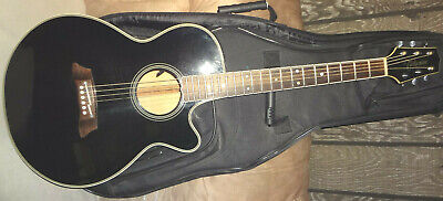 Rare TAKAMINE FP-592ME Jazz Acoustic Electric Guitar Maple Top w/ Cutaway