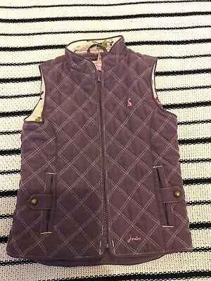 girls joules body warmer gilet age 5 lilac