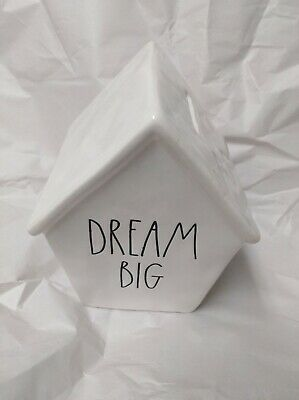 New 2019 Rae Dunn HTF  DREAM BIG Piggy Bank Birdhouse LL Large Letter