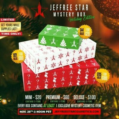 Mini Jeffree Star Cosmetics Box Holiday Edition IN-HAND FAST SHIPPING!