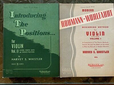 Vintage Violin Instruction Music Books.