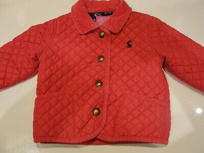 Joules Quilted Coat 6-12M - Pink Girls Winter Coat