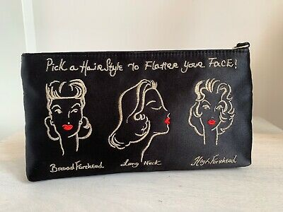 Lulu Guinness Clutch Make-Up Cosmetic Bag Pouch Pick A Hairstyle