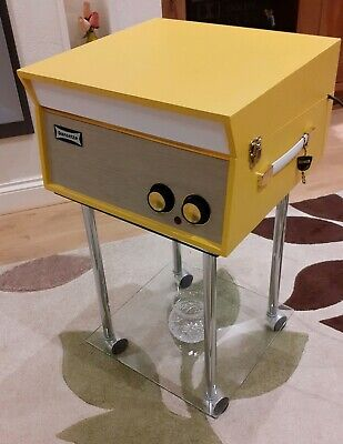 Fabulous DANSETTE TEMPO 1960s RECORD PLAYER in Yellow, Fully Refurbished