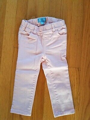 Baby Gap Toddler Girls Skinny Fit Sparkly Pink Jeans ~ Size 2yrs 2T ~ EUC