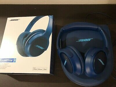 Bose SoundTrue Around-ear Wired Headphones II -  Navy Blue for apple products