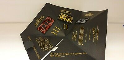 star wars embroidered emblems limited edition 2005