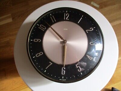 VTG MID CENTURY 50s METAMEC WIND UP KITCHEN WALL CLOCK MODERNIST RETRO WORKING