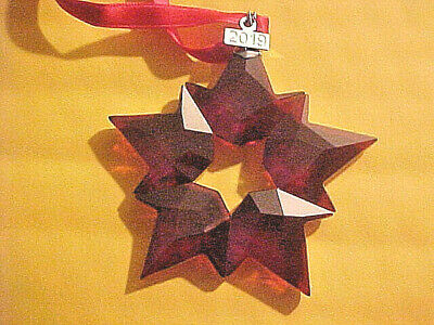 2019 Swarovski Crystal Snowflake ANNUAL ED. LARGE CHRISTMAS ORNAMENT [ RED ]